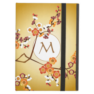 Protection iPad Air La prune japonaise fleurit branche de rouge orange
