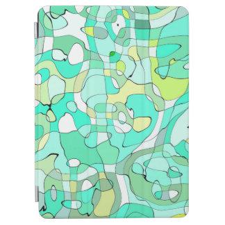 Protection iPad Air L'art d'abstraction contourne vert, jaune et le