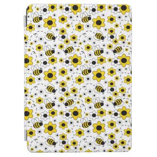 Protection iPad Air Le miel gaffent le jaune de fille de bourdon