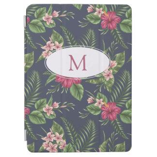 Protection iPad Air Le motif floral Ibiscus a personnalisé la