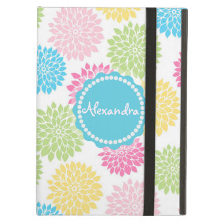 Protection iPad Air Le rose en pastel, bleu, dahlia jaune fleurit le