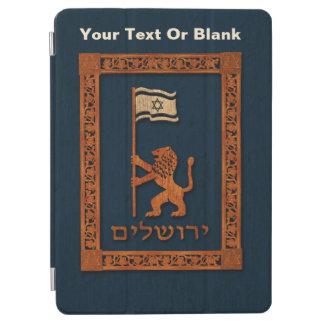 Protection iPad Air Lion de jour de Jérusalem avec le drapeau