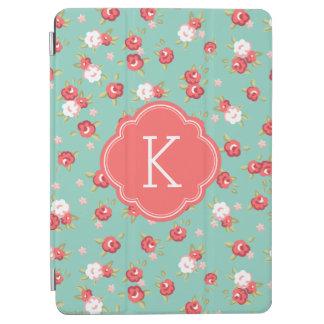 Protection iPad Air Monogramme vintage chic d'impression florale de