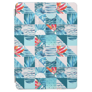 Protection iPad Air Motif abstrait géométrique turquoise tropical
