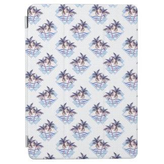 Protection iPad Air Motif géométrique pourpre de palmier d'aquarelle
