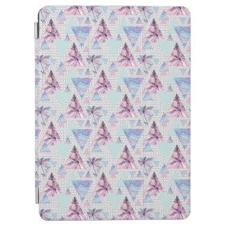 Protection iPad Air Motif rose et bleu d'aquarelle de palmier