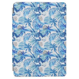 Protection iPad Air Motif tropical bleu lumineux d'aquarelle