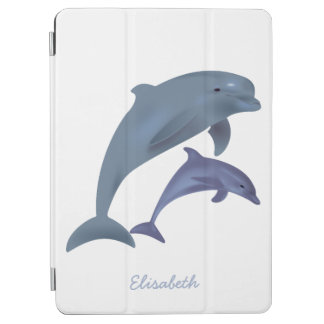 Protection iPad Air Nom sautant d'illustration de dauphins