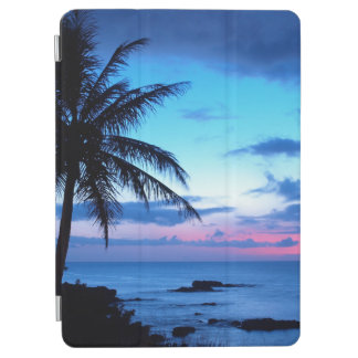 Protection iPad Air Photo bleue de coucher du soleil d'île de plage de
