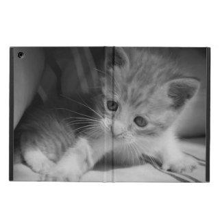 Protection iPad Air Photographie noire et blanche de chaton