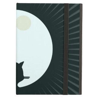 Protection iPad Air Pleine lune de chat noir
