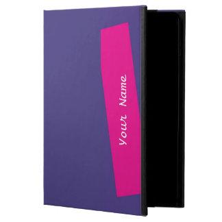 Protection iPad Air pourpre et roses indien solides de caisse de folio