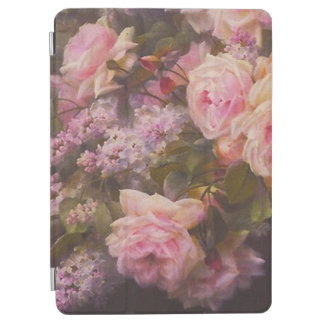 Protection iPad Air Roses victoriens et lilas