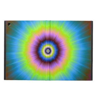 Protection iPad Air Teignez en nouant en jaune rose bleu