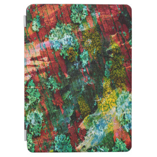 Protection iPad Air Texture verte et rouge d'art d'abstraction