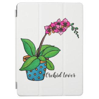 Protection iPad Air Usine d'orchidée d'aquarelle dans le beau pot