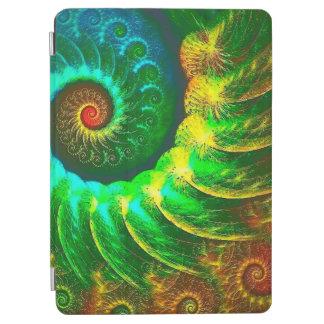 Protection iPad Air Vert d'art d'abstraction et mouvement giratoire de
