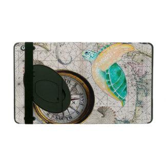 Protection iPad Beige de carte de tortue de mer