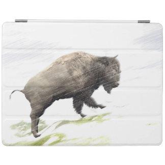 Protection iPad Bison dans la tempête d'hiver