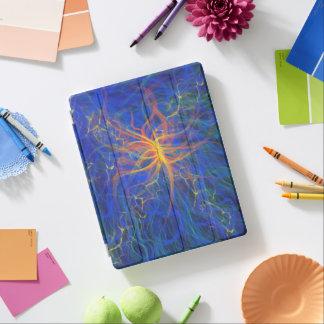 Protection iPad Conception bleue de peinture d'art abstrait