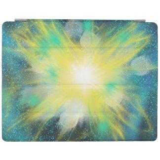 Protection iPad Conception jaune de peinture d'art d'étoile de