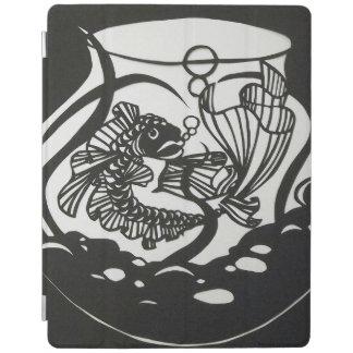 Protection iPad Conception noire et blanche de coupe de papier de