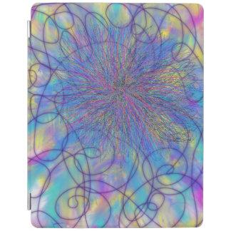 Protection iPad Conception rose pourpre psychédélique d'art