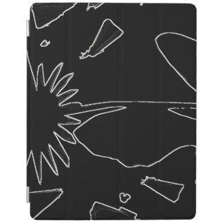 Protection iPad Couverture intelligente d'iPad noir et blanc de