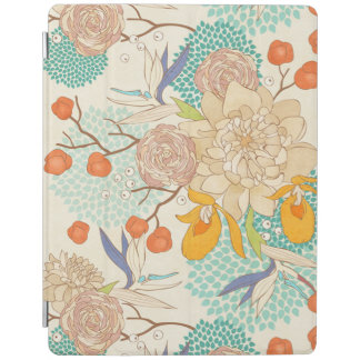 Protection iPad Couverture rose moderne d'iPad d'Apple de motif de