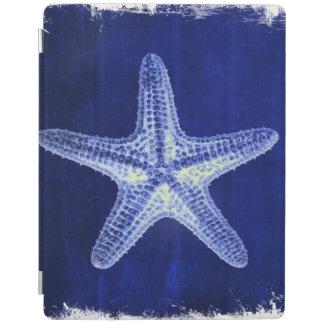 Protection iPad étoiles de mer bleues nautiques rustiques de plage