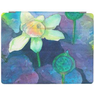 Protection iPad Fleur d'étang d'aquarelle de Lotus