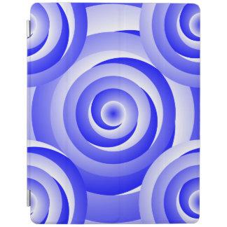 Protection iPad Illusion en spirale bleue par Kenneth Yoncich