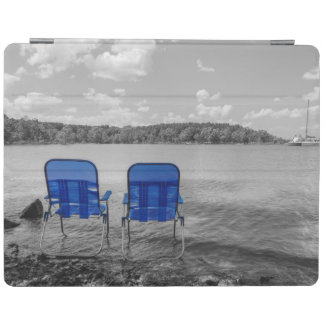 Protection iPad Jour parfait à la gamme de gris de lac