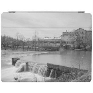 Protection iPad Journée de printemps à la gamme de gris de moulin