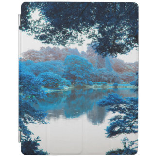 Protection iPad La couleur bleue a effectué la nature fraîche et