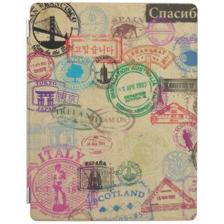 Protection iPad Le passeport vintage emboutit la couverture