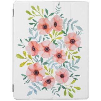 Protection iPad Le rose moderne d'aquarelle fleurit l'illustration