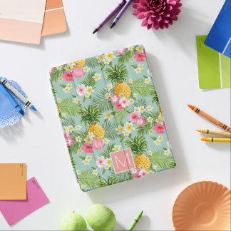Protection iPad Les fleurs et les ananas tropicaux | ajoutent