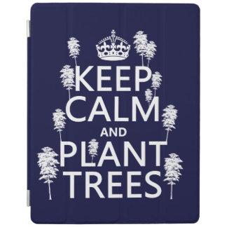 Protection iPad Maintenez les arbres calmes et de plante (toutes