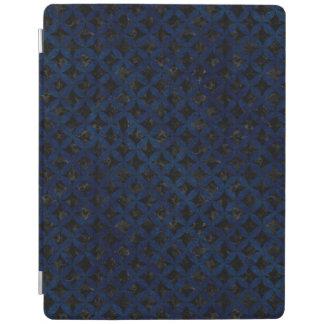 PROTECTION iPad MARBRE CIRCLES3 NOIR ET GRUNGE BLEUE