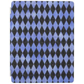 PROTECTION iPad MARBRE DIAMOND1 NOIR ET AQUARELLE BLEUE