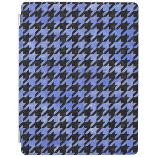PROTECTION iPad MARBRE HOUNDSTOOTH1 NOIR ET AQUARELLE BLEUE