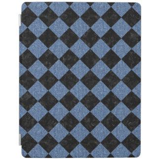 PROTECTION iPad MARBRE SQUARE2 NOIR ET DENIM BLEU