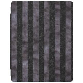 PROTECTION iPad MARBRE STRIPES1 NOIR ET AQUARELLE NOIRE