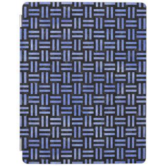 PROTECTION iPad MARBRE WOVEN1 NOIR ET AQUARELLE BLEUE