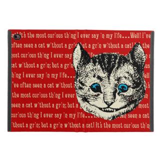 Protection iPad Mini 4 Alice vintage chez le chat de Cheshire du pays des