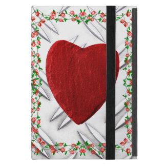 Protection iPad Mini Cadre de rose coeur
