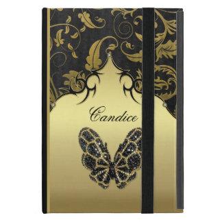 Protection iPad Mini Damassé ornée de bijoux de papillon