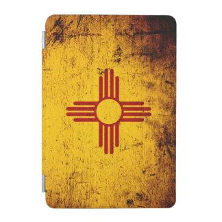 Protection iPad Mini Drapeau grunge noir d'état du Nouveau Mexique