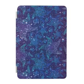 Protection iPad Mini Étoiles de mer bleues profondes mystiques sur des